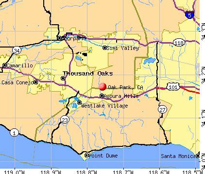 oak california map oak park california ca 91377 profile population maps