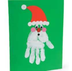 hand print santa card christmas craft red ted art s blog
