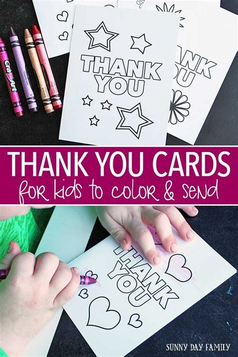 Thanks Card For Preschool