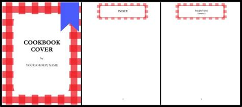 template template cookbook for microsoft word recipe book cover temp