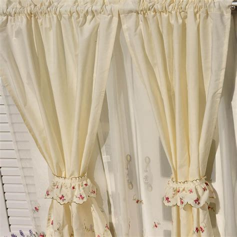 roses curtains rose tiered curtain