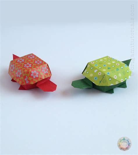 How To Make Tortoise With Paper - origami tortoise box origami tutorials