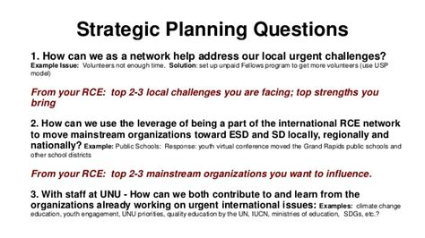 layout strategy questions strategic planning questions of rces