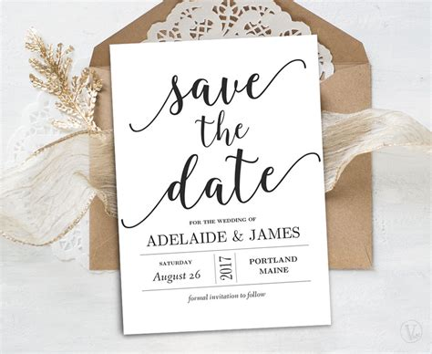 save the date template save the date template printable save the date card instant