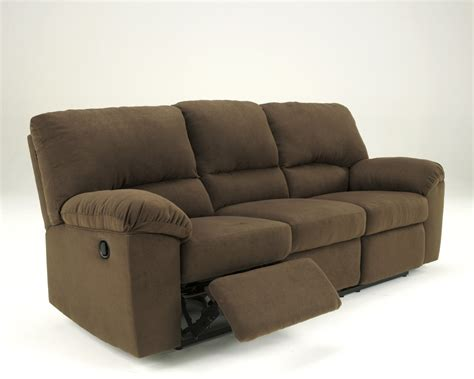 reclinable sofa ashley furniture signature design kickoff chocolate