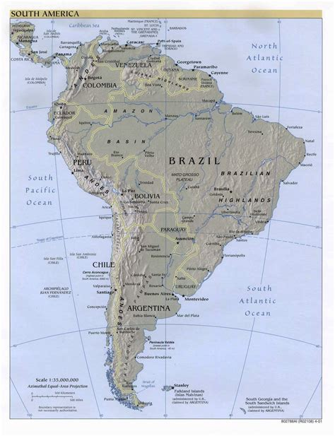 south america political map with major cities maps of south america and south american countries