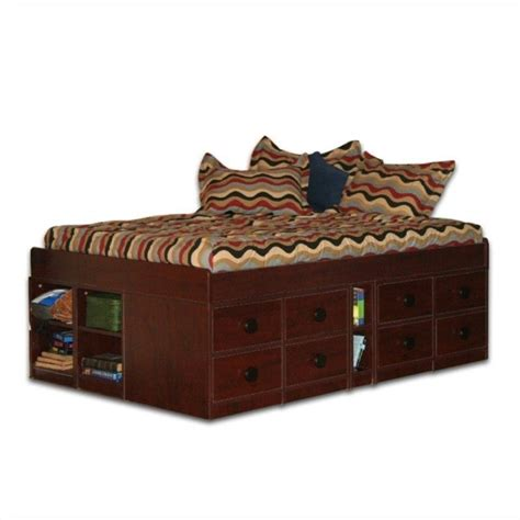 captain bed full berg furniture sierra full size low jr captain s bed 22