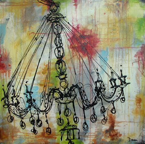 Swinging From Chandelier Painting Quot Chandelier Series Swinging Quot Original Art By