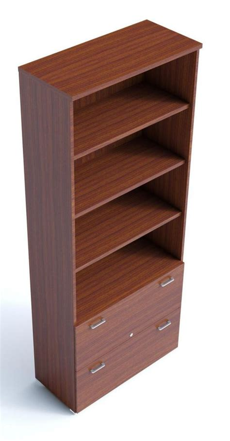 combination bookcase with filing drawers armarios