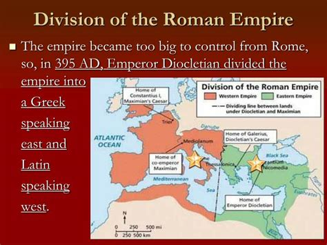 why was the roman empire divided into two sections ppt history and culture of europe powerpoint