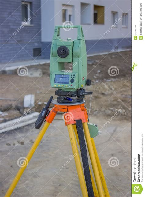 layout building using total station total station at construction site land surveying
