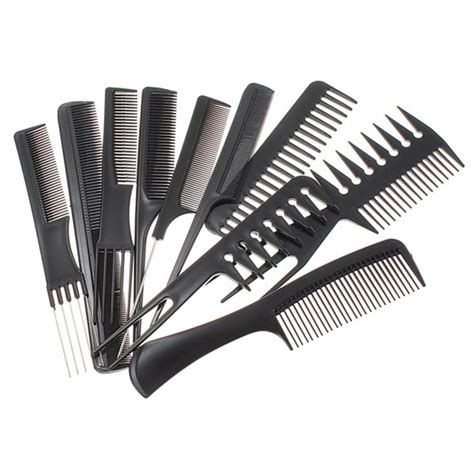 comb over bruash hair style 10 piece hair styling comb set professional black