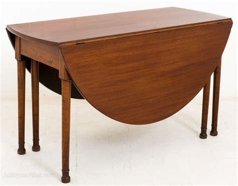 oval table with leaf mahogany oval drop leaf dining table antiques atlas