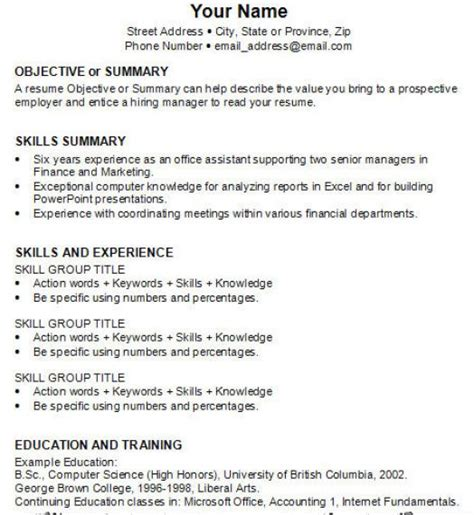 how to write a work resume how to how to write resume