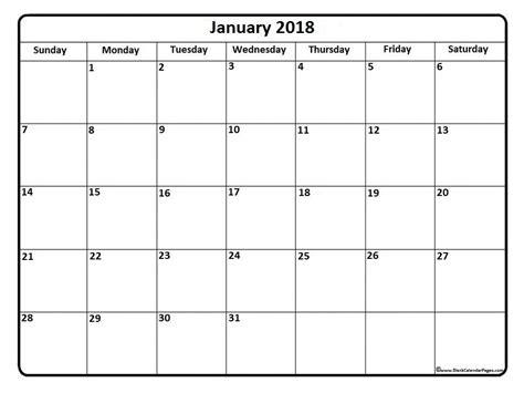 printable calendar 2018 large print january 2018 calendar january 2018 calendar printable