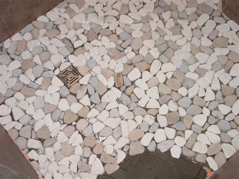 Pebble Shower Floors For Tiled Showers Howto Install Small Pebble Shower Floor