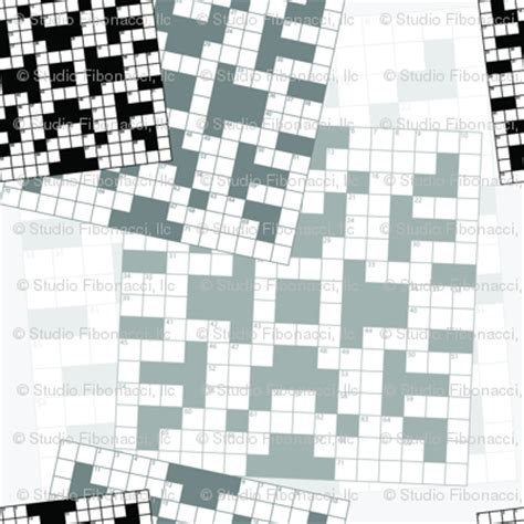 swing around crossword crossword puzzle fabric studiofibonacci spoonflower