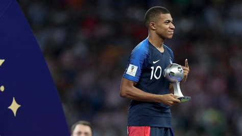 kylian mbappe wins world cup young player award world