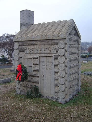 Elmwood Cabin by Elmwood Cemetery Severs Log Cabin Front 1915 Flickr Photo