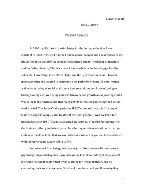 Sle Personal Narrative Essays by Sle Of Personal Narrative Essay 28 Images Narrative Writing Rubric Grade 6 This Is How You