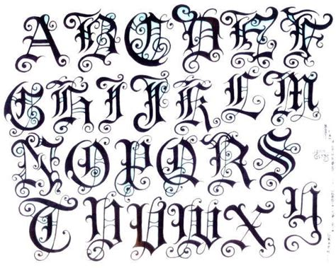 old english tattoo letters pin fancy fonts