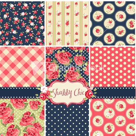 shabby chic rose patterns and seamless backgrounds ideal