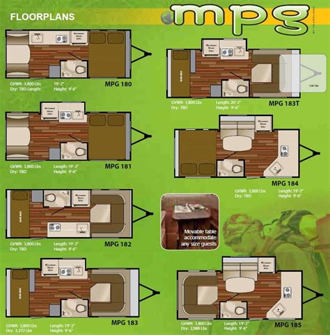 mpg travel trailer floor plans 2011 heartland mpg micro lightweight travel trailer