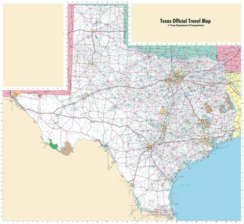 road map of texas texas state highway map maplets