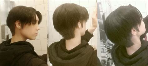 levi ackerman haircut test test test i combined two wigs of varying shades