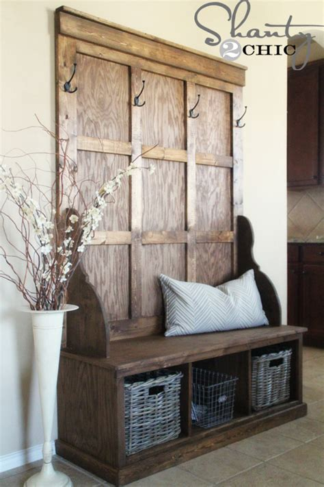 how to make entryway bench shanty hall tree bench shanty 2 chic