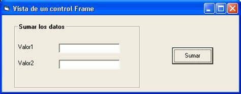 que es un frame layout control frame recursos visual basic