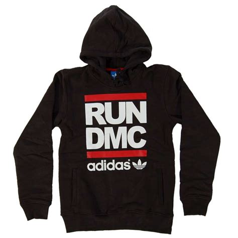Hoodies Run Dmc Adidas adidas originals run dmc logo hoody black mens sweats