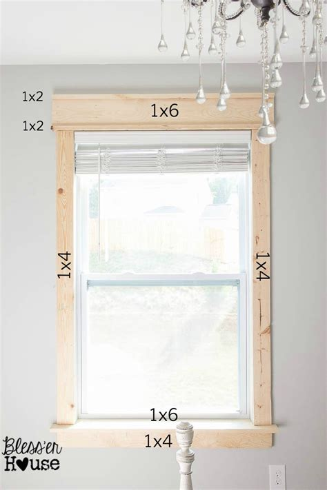 window framing using similar sized window door baseboard trim