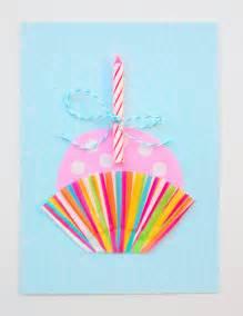 cute cupcake diy birthday card diycandy com