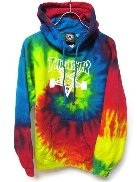 Hoodie Jumper Jaket Skate Thrasher Black sweater thrasher dye skateboard jacket wheretoget
