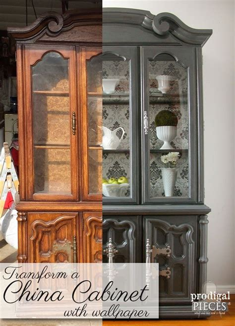 china cabinet makeover ideas china cabinet makeover with wallpaper china cabinets