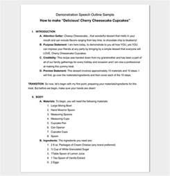 demonstration speech outline template demonstration speech outline exle www imgkid