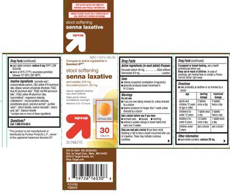 Senna Stool Softener Dosage by Senna Laxative Plus Stool Softener Tablet Target Corporation