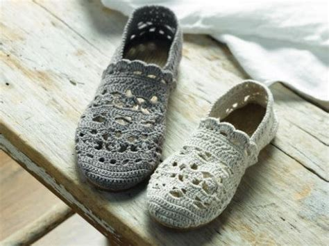 tutorial slipper rajut crochet espadrilles crochet patterns by phildar happy