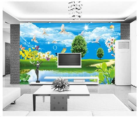 Paper Lotus 20cm Sky Blue ᓂcustomized 3d wallpaper 3d tv tv wallpaper murals
