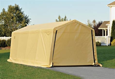 Cheap Portable Garages And Shelters by 10 Wx20 Lx8 H Economy Portable Garage Shelters