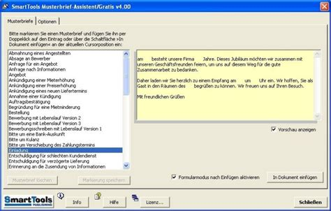 Musterbrief Word Smarttools Musterbrief Assistent Computer Bild