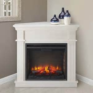 crestwood electric fireplace mantel package in white