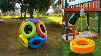 Backyard Tire Swing Boost Your Ideas Of Old Tires Car With Colorful Paint On