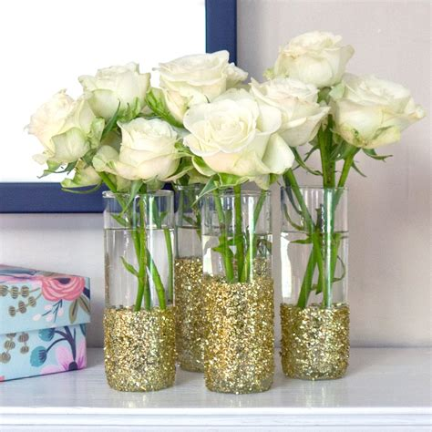 how to make simple diy flower arrangements glitter inc diy glitter vase popsugar home australia