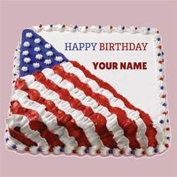 usa kuchen write name on happy birthday usa flag cake namepix cake
