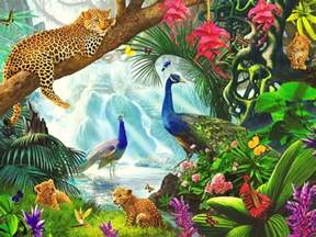 Flower Jigsaw Puzzle - lovely wild animals paradise wallpapers lovely wild