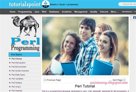 Tutorialspoint Vb 6 0 | 5 website hay để học perl passionery