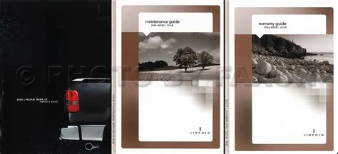 hayes car manuals 2006 lincoln mark lt user handbook 2006 lincoln mark lt owner s manual set original