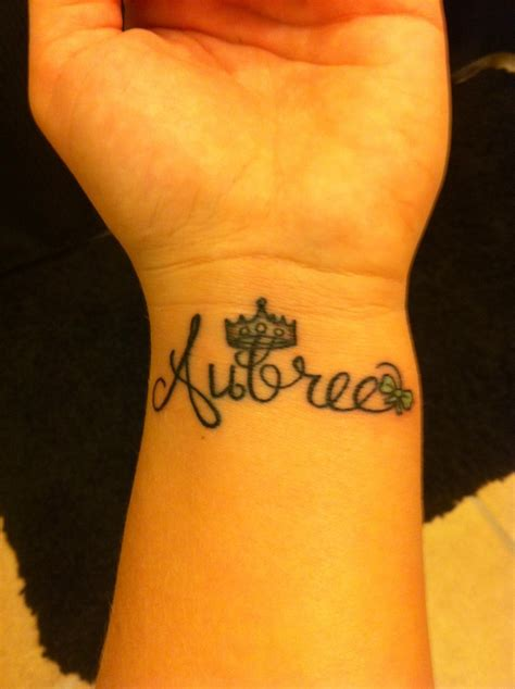 wrist tattoos kids names best 25 princess crown tattoos ideas on name